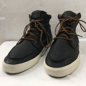 Polo Black Leather High-Top Sneakers Size 12D